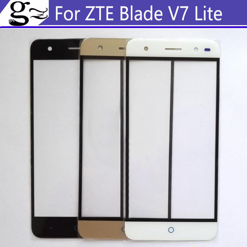 White/Black/Gold For ZTE Blade V7 Lite Front Outer Glass Lens Repair Touch Screen Outer Glass Touch Screen Without Flex