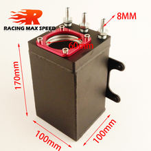 цена на 60mm single port size racing black Billet aluminium oil catch can,fuel surge tank OCT1115