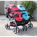 Bailai Hot-venta rosa gemelos cochecito, cochecito doble, gemelos cochecitos de alta suspensión cómodo cochecito de bebé portador