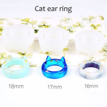 Transparent Silicone Mould Dried Flower Resin Decorative Craft DIY arc ring mold Type epoxy resin molds for jewelry