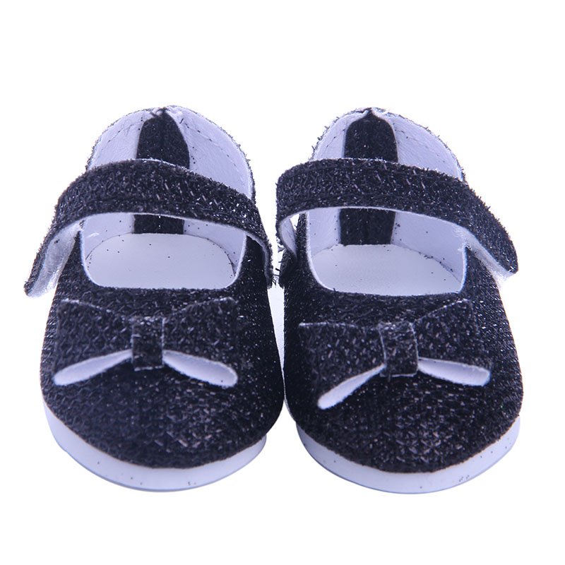 Two styles of small cloth shoes Wear fit 18 inch American Girl,43cm Baby Born zapf, Children best Christmas gift
