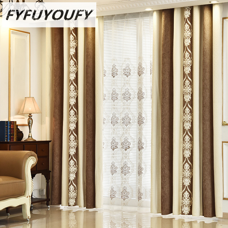 Europe Pashmina Embroidered Curtains For living Room/ Bedroom Blackout Curtains Window Treatment /drapes Home