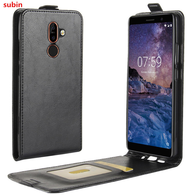 the best attitude c9d10 be2cf US $3.6 11% OFF|For Nokia 7 Plus Case Cover Original Leather Case  Protective Shell Funda For Nokia7 Plus Flip Cases-in Flip Cases from  Cellphones & ...