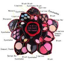 Miss Rose Flower Eye Shadow Palette Plum Blossom Rotating Set Matte Shimmer Nude Long Lasting Eyeshadow Palette Makeup kit