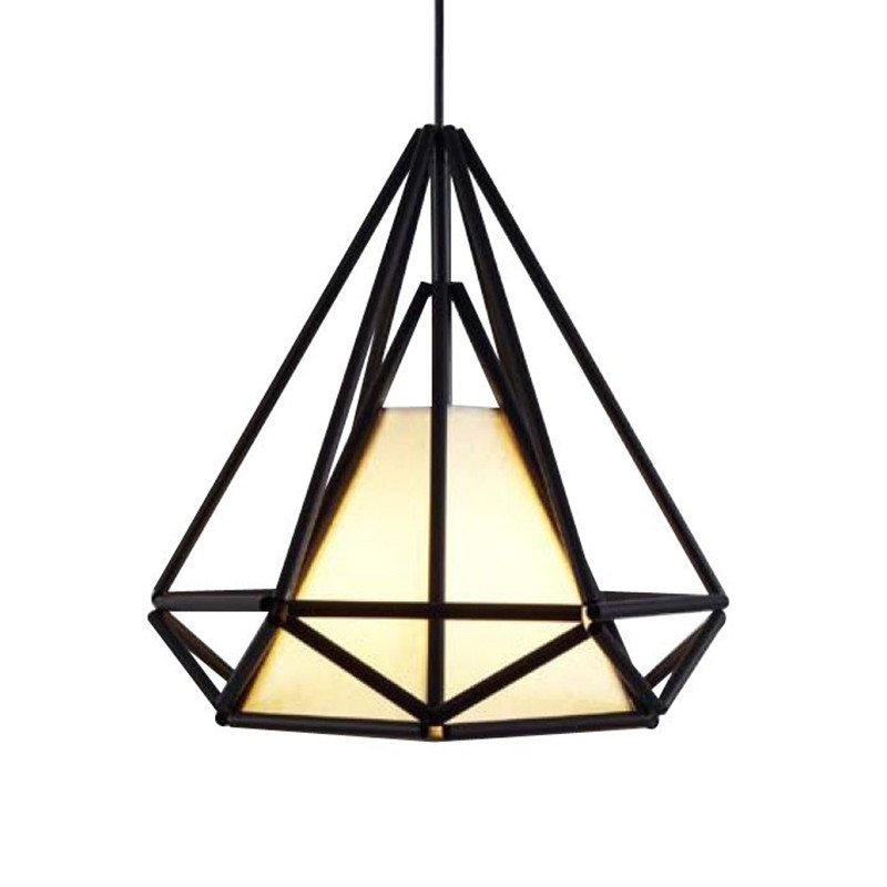 Diamond Himmeli Pendant Lights Black Iron Art Birdcage Pendant Lamp Suspension For Living Room Bedroom Lighting Fixtures PL321 diamond himmeli pendant lights black iron art birdcage pendant lamp suspension for living room bedroom lighting fixtures pl321 page 5