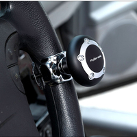Hypersonic Black Car Steering Wheel Knob Power Spinner Handle Easy Turn Safe Driving