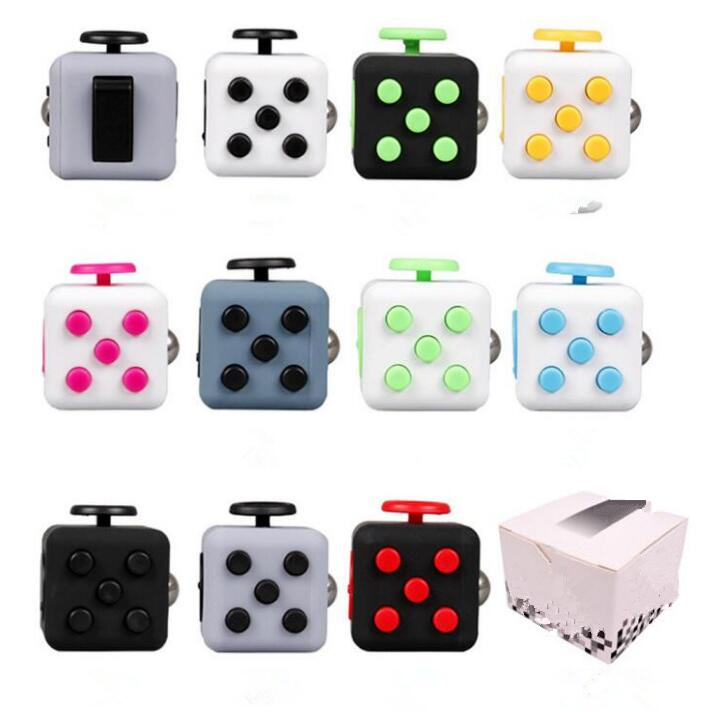 Hand Spinner Fidget Cube With Button Anti Irritability Toy Stress Relief for Adults and Children 12 Fidget Vinyl Desk Toy 11Type edc novelty stress relief toy fidget magic cube