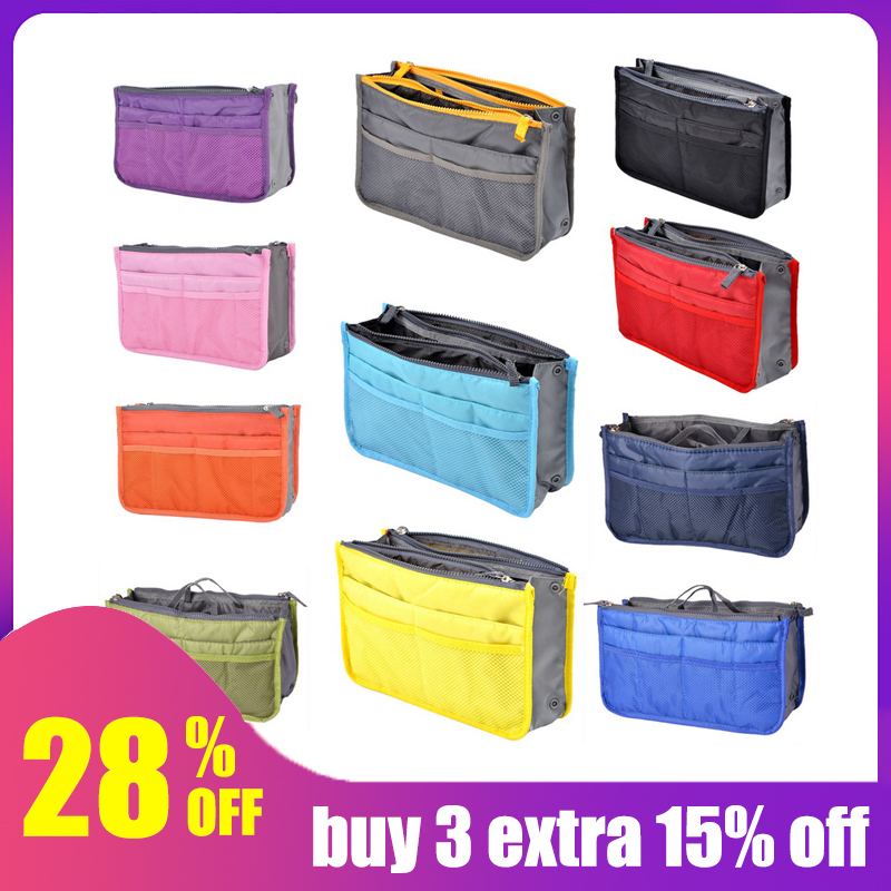 Travel Bag Handbag Organiser Insert Periea Daisy Lilac