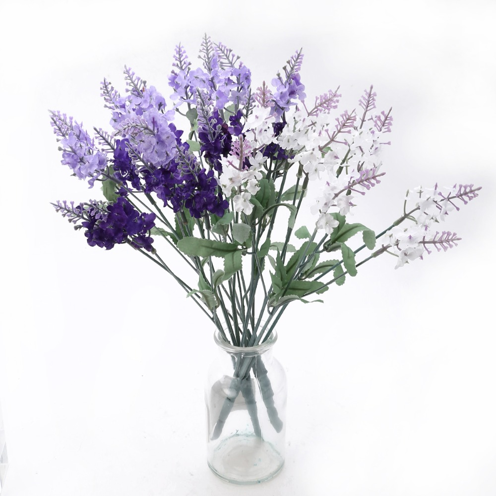 New romatic beauty bouquet artificial lavender silk flower lavenders new romatic beauty bouquet artificial lavender silk flower lavenders for home wedding garden floral decor in artificial dried flowers from home garden izmirmasajfo