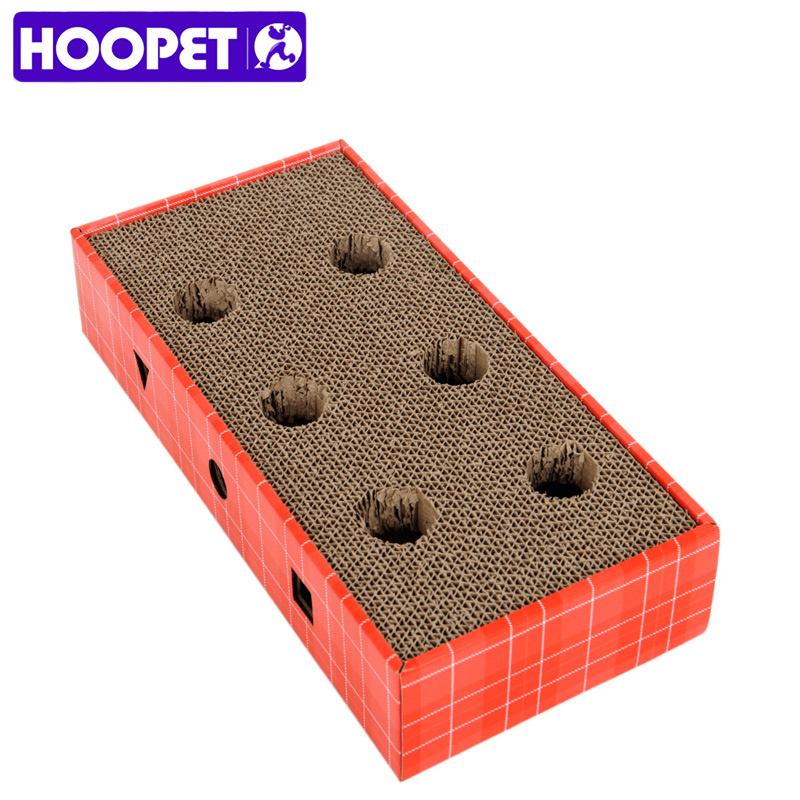 Hoopet Cat Scratch Board Corrugated Paper With Bells Grinding Plate Sofa Pet Cat Toys