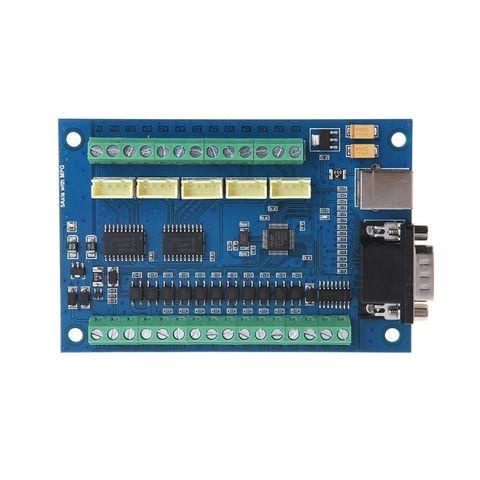 12 24 v mach3 usb 5 axis 100 khz stepper suave controle de movimento breakout
