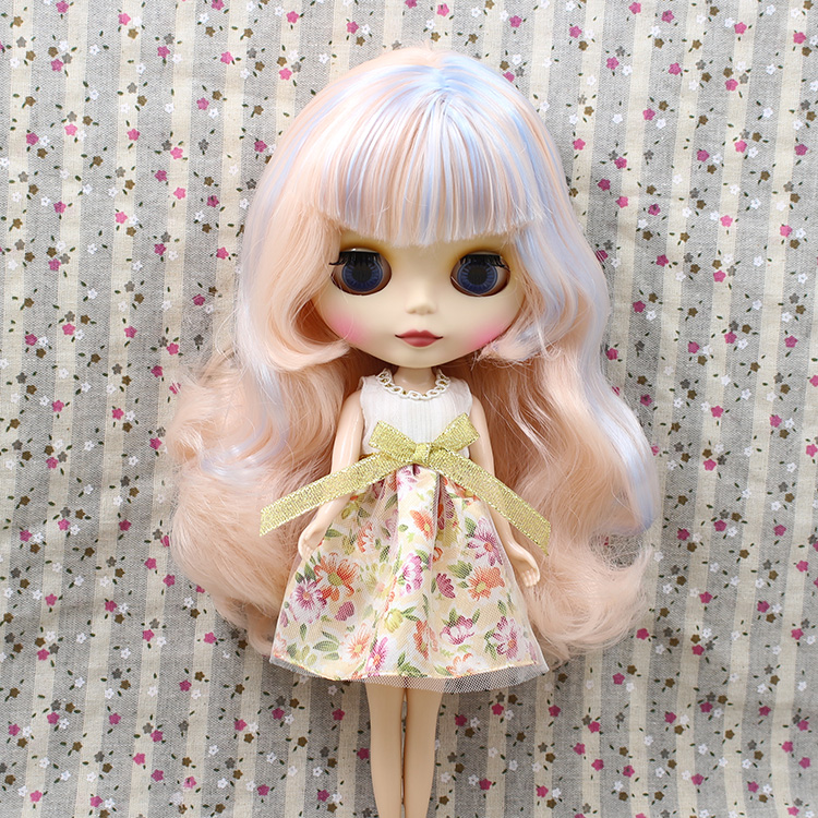 Free shipping Nude Blyth Doll 230BL60052352 blue mix champagne pink hair Suitable For DIY Change BJD Toy For Girls цена