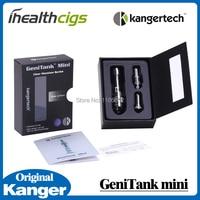 100% original kanger genitank mini atomizer set 1.3 ml có thể thay thế cuộn dây kép mini air flow điều khiển pyrex kính kanger kit 5 cái
