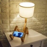 AC110 240V Creative wood writing desk lamps for living room study room modern LED E27 table lamps lustres de sala plafon luminer