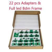 BDM adapters KTAG KESS KTM Dimsport BDM Probe 22pcs Adapters Full Set LED BDM Frame ECU RAMP 22pcs Adapters free shipping