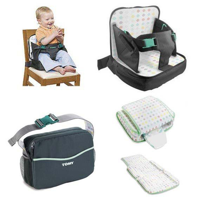 Freeshipping Poartable TOMY bag 3-in-1: Boost seat+diaper bag+changing pad Toddler High Chair booster nappy bag