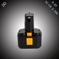 מכירה 9.6 V NI-CD 2000 mAh תחליף לhitachi FEB9S EB924 EB9B כלי חשמל סוללה נטענת EB9G EB9M EB9S EB926H EB930H