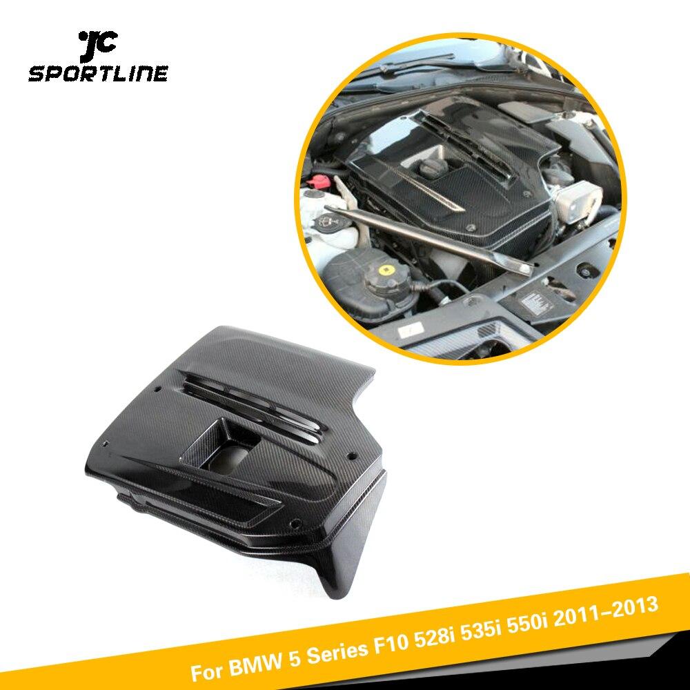 Carbon Fiber Engine Bonnets Cover Trims For BMW 5 Series F10 528i 535i 550i 2011 2013