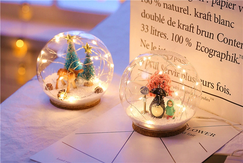 Creative LED Crystal Ball Design Table Lamp Room Decor Bedside Night Light For Girls Baby New Year Christmas Birthday Gift (5)