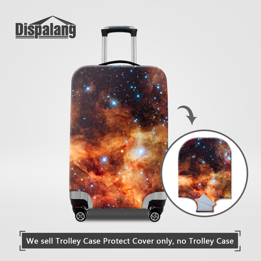 Dispalang Travel On Road Luggage Cover Galaxy Star Stretch Elastic Suitcase Protective Trunk Covers For 18 20 22 24 26 28 30Inch
