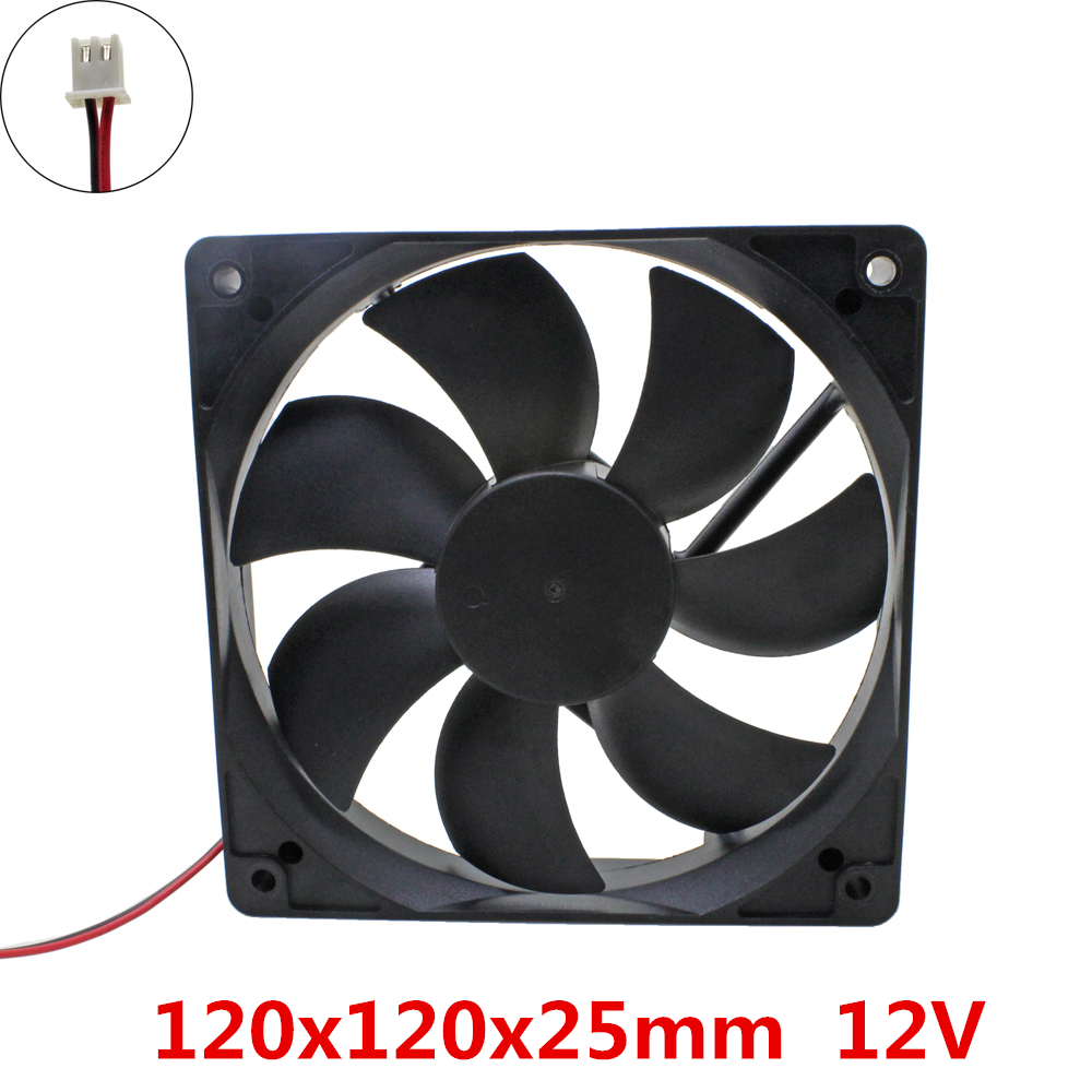 GDSTIME 120x120x25mm 12025 fans Cooling DC 12V Brushless Fan cooler radiator for power supply mainframe-box original delta aub0812vhb 8015 8cm 80mm dc 12v 0 30a slim chassis power supply cooling fans cooler