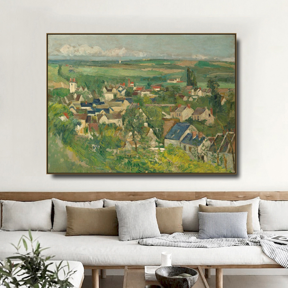 Auvers Panoramic View by Cezanne Canvas Painting Calligraphy Prints Home Decoration Wall Art Poster Pictures For Living Room in Painting Calligraphy from Home Garden