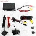 3 in 1 LED Car auto reverse camera Parking Sensor  Rear View Parking Camera 2 Sensors Indicator Bi Bi Alarm 4.3 inch HD monitor