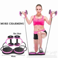 New home twist waist abdominal wheel multi function Abdominal abdominal round triple fitness equipment