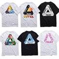 Palácio T-shirt Dos Homens/mulheres 1:1 de Alta Qualidade 2016 Verão Novo Palácio Skates T Shirt Da Forma do Algodão Tops & T palácio Camisetas