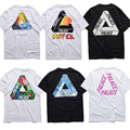 Palacio Camisetas Hombres/mujeres 1:1 de la Alta Calidad 2016 Nuevo Palacio de Verano Patineta Camiseta de Algodón de Moda Tops y Camisetas palacio Camisetas