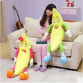 Dorimytrader 37'' Big Lovely Soft Fruit Banana Plush Pillow 95cm Giant Stuffed Lover Bananas Toy Kids Doll Birthday Gift DY61370
