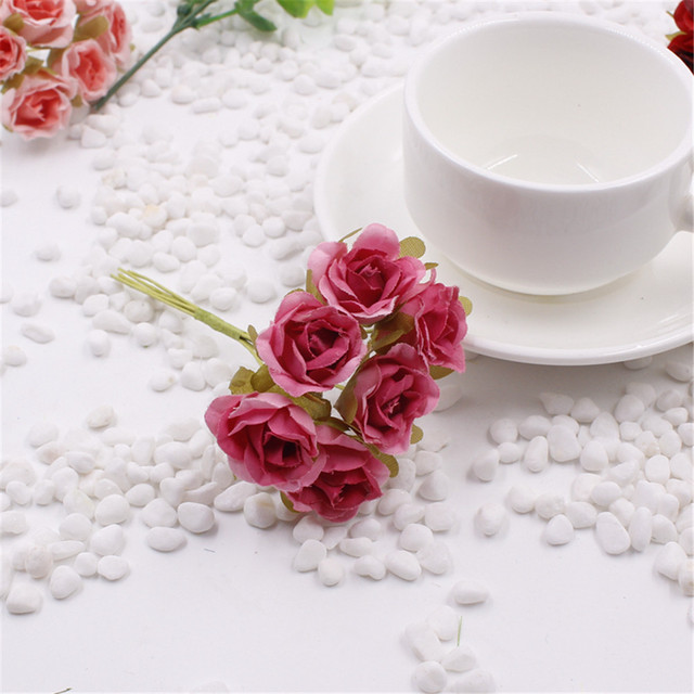 Hot sale 30 pcs 2 cm silk rose artificial flower bouquet for wedding ...