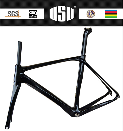 New arrivals OEM road bike frame with UD finish with free shipping carbon bicycle frame(China)