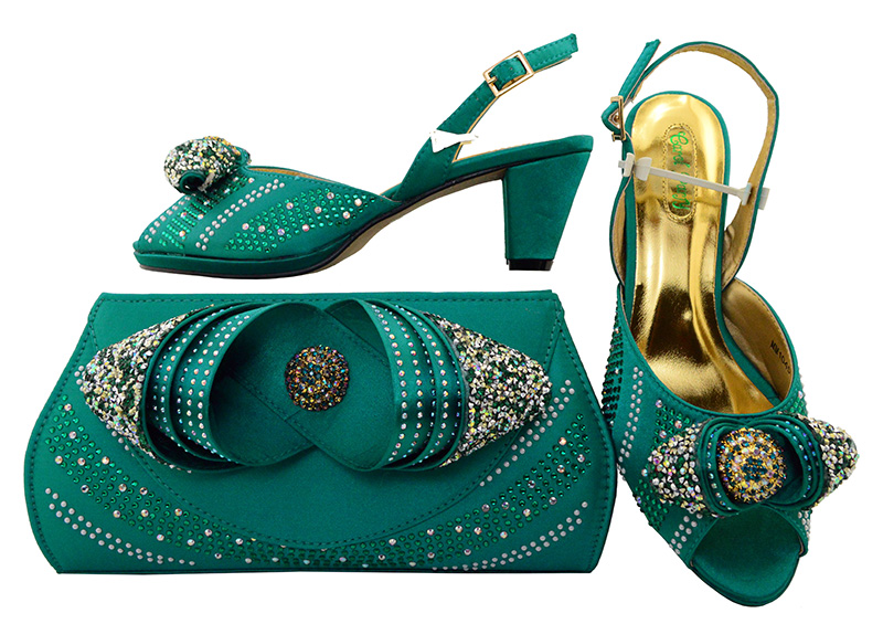 Italian Design Shoes With Matching Bags Nigeria Wedding Shoes And Bag To Match Stones African Fashion Shoe And Bag MM1045
