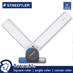 STAEDTLER 660 20 Rotatable / Right Angle / Angle Ruler / Corner Ruler Measuring Tool Suitable for Design Drawing, Etc.