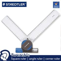 STAEDTLER 660 20 giratorio, ángulo derecho, regla de ángulo, herramienta de medir esquina, regla adecuada para el dibujo de diseño, Etc.