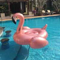 1,9 м гигантский розовое золото надувной фламинго бассейн плавает матрас плавание кольцо бассейн вечерние летние водонепроницаемые игрушки