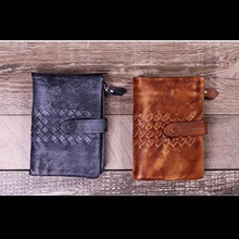 Handmade works of art wallet Brush color weaving screens wallet Men and women general zipper bag