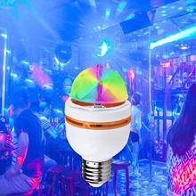 New Full Color 3w Mini E27 RGB LED Lamp Auto rotating rgb led dj disco stage lighting 85-265V Holiday Bulb for Bar KTV Lighting()