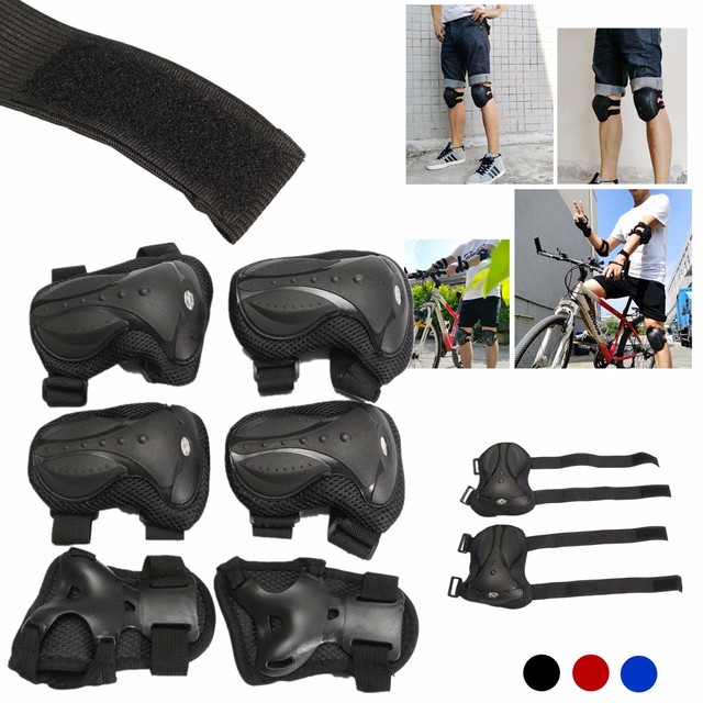 6 pçs/set Conjunto Adulto Sports Segurança Joelho Cotoveleiras Joelheiras De Proteção Proteção Para Scooter Ciclismo Roller Skating