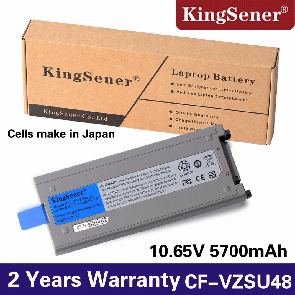 KingSener жапон ұялы телефоны Panasonic CF-VZSU48 CF-VZSU48U CF-VZSU50 CF-19 CF19 Toughbook үшін жаңа CF-VZSU48 батареясы