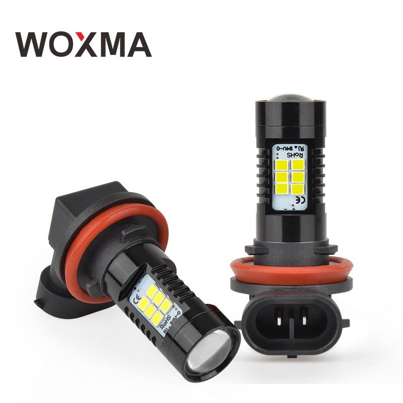 где купить H11 LED HB3 9005 Car led HB4 9006 1200LM H10 Fog Light DRL 12V H8 H9 21 SMD 2835 Chips 6000K White Amber Brake Turn Light WOXMA по лучшей цене