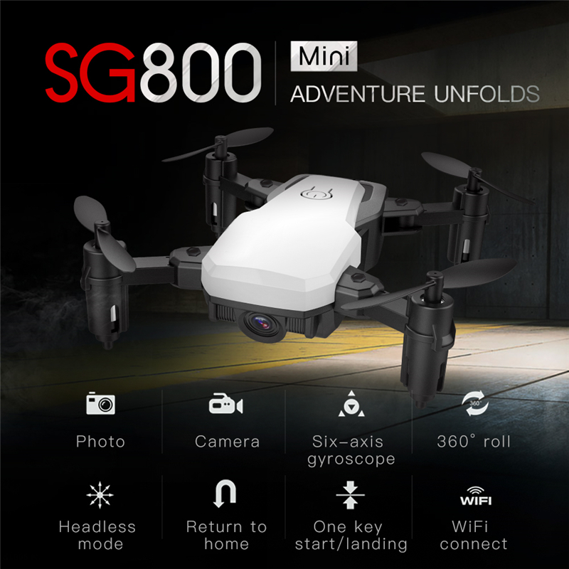 Foldable SG800 Mini Drone With WiFi Camera FPV Selfie Dron Altitude Hold RC Helicopter Quadcopter VS E58 SG700 XS809HW резиновые сапоги barbie