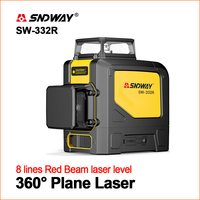 SNDWAY Laser Levels Green Laser Level 360 Lasers Self Leveling 3D Lines Teser Rotary Vertical Horizontal 12 lines Lasers Level
