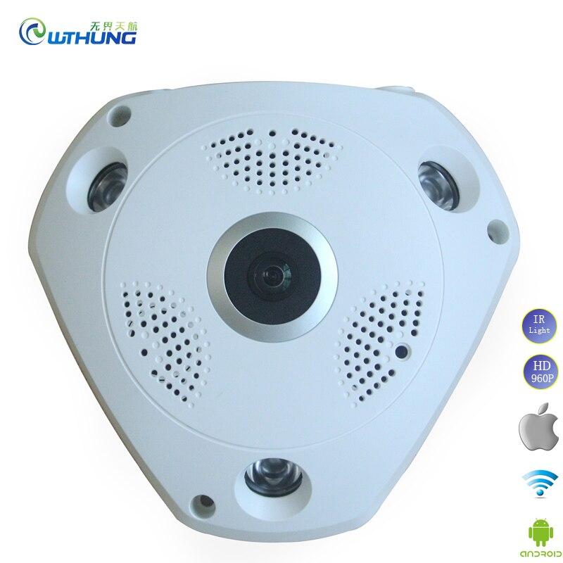 Wifi IP Cam 1 3MP 960P 3MP 3D VR 360 degrees Fisheye Panoramic audio web camera