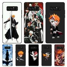 P017 Bleach Black Silicone Case Cover For Samsung Galaxy Note 3 4 5 8 9 M10 M20 M30 цена