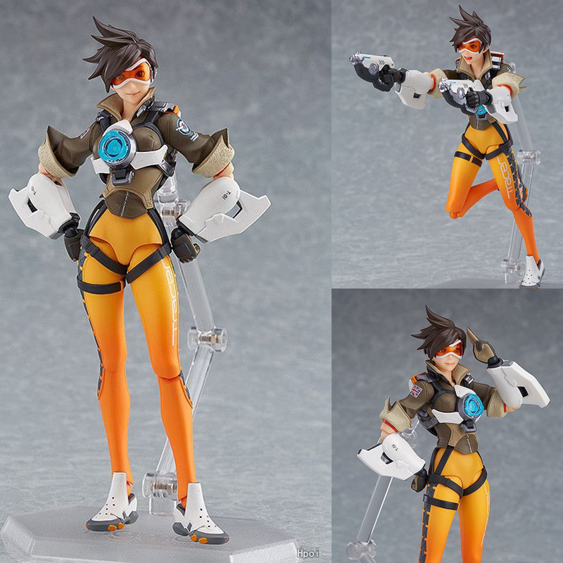 352 Game OW Character Tracer 14cm BJD Figma Action Figure Model Toys