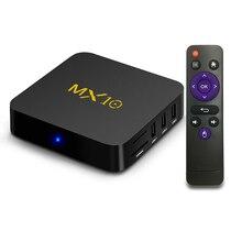 MX10 Smart TV Box Android 7.1 RK3328 Quad Core 64bit DDR4 4GB 32GB KD17.4 4K HD Wifi 100M LAN USB3.0 Set-top Box media player