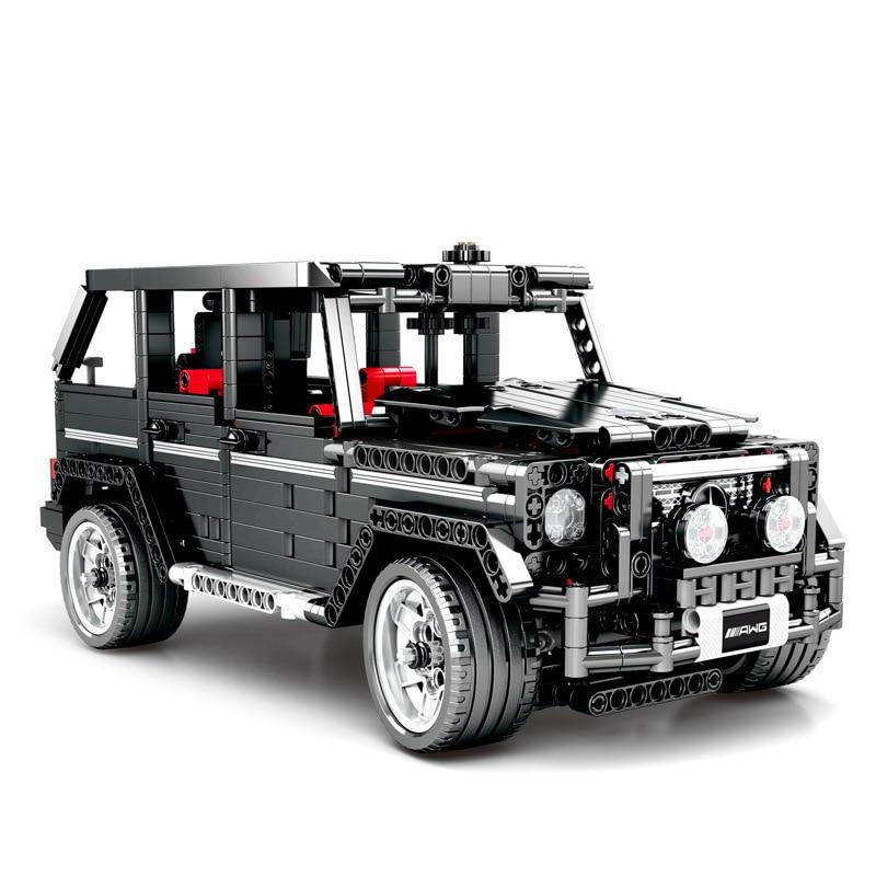 2019 nowy kreator ekspert Technic MOC G500 SUV AWD Wagon samochody klocki zestawy modeli klocki klasyczne dla dzieci zabawki prezent w Klocki od Zabawki i hobby na  Grupa 1