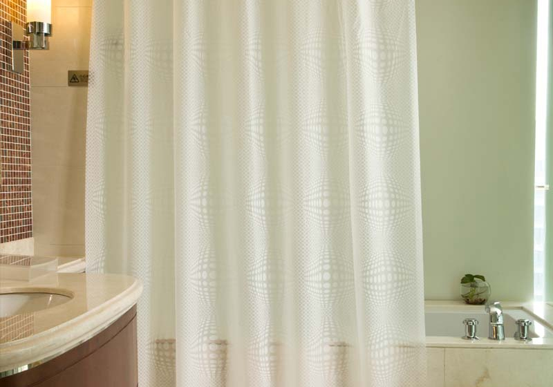 Bathroom Shower Curtain Thick Waterproof Pure White Suit Continental Plastic Shower Curtain Rod